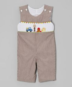 Take a look at this Brown Gingham County Fair John Johns - Infant & Toddler by Sweet Teas Children's Boutique on #zulily today!