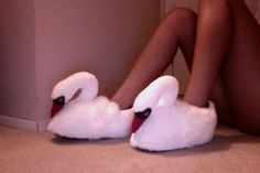 swan slippers