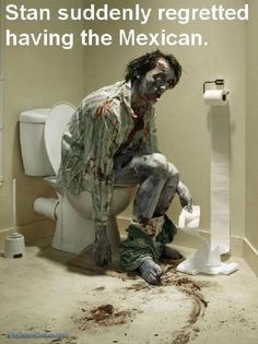 Oh no!  There's nothing worse than zombies with diarrhea