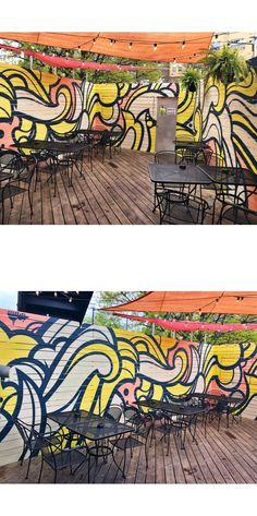 Patio Mural by Peter Ferrari at MOTHER Bar + Kitchen