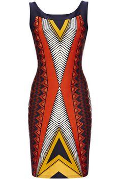 Wallis does it again. Orange Cairo Bodycon Dress