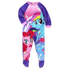 My Little Pony Girls Fleece Sleeper Pajamas #Yankeetoybox #MyLittlePony #Rainbowdash #PinkiePie
