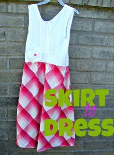 a skirt to dress transformation