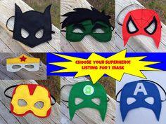 Superhero Mask You Choose Mask  Batman Spider by littleshepsters, $8.00