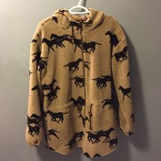 "Tsunami horse zip up This is really cute and soft. Says medium but VERY roomy so would fit a large too 29"" long Tsunami Tops Sweatshirts & Hoodies"