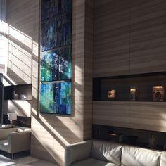 大堂会客厅 #Tokyo #Minato #akasaka #パークマンション  #lobby #receptionroom #mural #sofa #beautiful