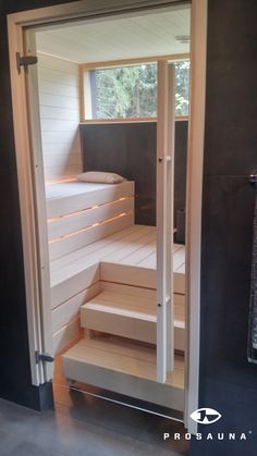 Sauna Bathroom Ideas, Small Bathroom Decor, Sauna Design, Closet Decor, Bathrooms Remodel, House, Luxury Pools Indoor, Farmhouse Master Bathroom, Sauna House