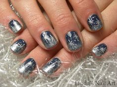 Image detail for -Black beauty snowflakes nail art design | Top of Modern Fashion Trend