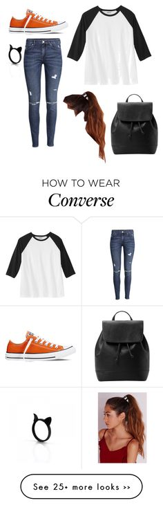 """Untitled #2012"" by if-i-were-famous1 on Polyvore featuring Converse, H&M, Missguided and MANGO"
