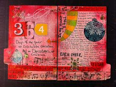Christmas+art+journal+pages | Holiday Art Journal Page #25 | Flickr - Photo Sharing!