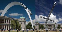 Unbelievable Steel Sculptures Of #Cars Racing In The Sky Defy Gravity #Art