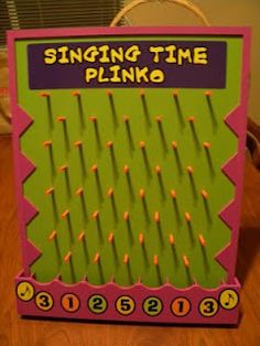 """Singing Time Plinko with """"Disc Drop Game"""" bought from Oriental Trading for 20...another """"Price is Right"""" fav so it might be worth it..."""