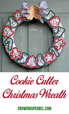 An easy Christmas craft made with supplies from the dollar store! This Christmas wreath is perfect for the cook on your list!