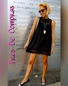 vestido negro boho @tresdecompras