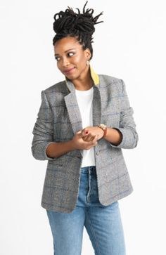 Jasika Blazer Pattern_Tailored Jacket Pattern_Womens Blazer Source by pascyfomo Jackets Dress Making Patterns, Coat Patterns, Sewing Patterns Free, Free Sewing, Hand Sewing, Pattern Sewing, Blazer Pattern, Cardigan Pattern, Jacket Pattern