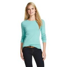 Women's Ultimate Crew Tee - Merona™ - Pewter Aqua