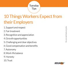 10 Things Workers Expect from their Employers