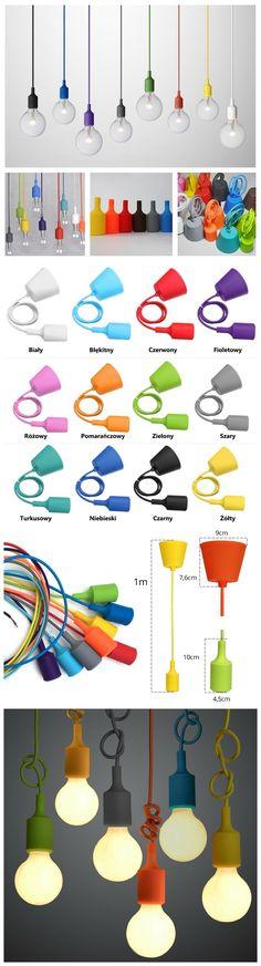 Kolorowe wiszące lampy ożywią każde wnętrze.