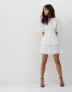 Buy Keepsake wild love ruffle mini dress at ASOS. With free delivery and return options (Ts&Cs apply), online shopping has never been so easy. Get the latest trends with ASOS now. Confirmation Dresses White, Trendy Outfits, Fashion Outfits, Summer Outfits, Cool Outfits, Forever 21 Fashion, Wild Love, Asos Dress, Birthday Dresses