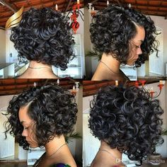Cheap knot, Buy Quality knot front directly from China knotted lace Suppliers: Kun Gang Curly Glueless Lace Front Human Hair Wigs Bleached Knots With Baby Hair Brazilian Remy Hair Wigs For Women Short Curly Haircuts Curly Hair Styles, Curly Hair Cuts, Short Hair Cuts, Natural Hair Styles, Pixie Cuts, Natural Curls, Frizzy Hair, Remy Hair Wigs, Human Hair Wigs