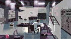 "The Professor's Lab - Backgrounds from the Powerpuff Girls Special ""Dance Pantsed"""