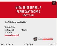 SlideSharen käyttövinkkejä järjestöille   Viestintä-Piritta / Piritta Seppälä