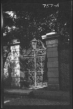 Amazon.com - Photo: Wrought iron gate, entrances, work, New Orleans, Louisiana, LA, Arnold Genthe, 1920