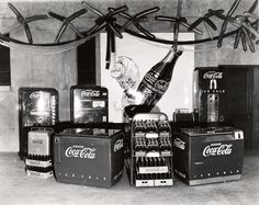 Photograph of Coca Cola products at a Electric Show