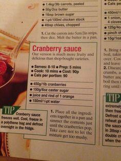 Cranberry sauce Cranberry Sauce, Brown Sugar, Carrots, Christmas, Food, Xmas, Weihnachten, Yule, Jul