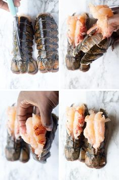 This easy and delicious lobster tail recipe is topped with a yummy garlic butter sauce and air fried to perfection. It's such a quick and easy recipe. Fried Lobster Tail, Lobster Boil, Shrimp And Lobster, How To Cook Lobster, Fried Shrimp Recipes, Lobster Recipes, Fish Recipes, Seafood Recipes, Seafood Meals