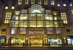 Market Street entrance to the official PRSA 2013 International Conference hotel and convention center, the Philadelphia Marriott Downtown.