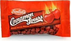 Gimbal's Cinnamon Lovers Chewy Hearts-Cinnamon candy is perfect for people who like a little sugar and a little spice.