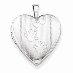 """NEW 925 STERLING SILVER HANDS HEART LOCKET 3.39g PENDANT .98"""" #Locket"""