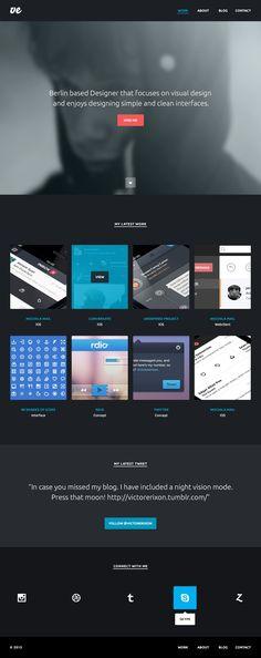 Portfolio website concept (dark version) by Victor Erixon