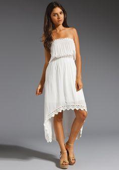 New favorite summer dress! Testament Ren Smocked Strapless Dress in Cream