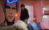 Billy Idol on the wall in St. Elmo's fire