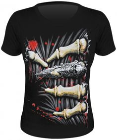 Tee Shirt Femme Spiral DARK WEAR - Death Grip - http://rockagogo.com