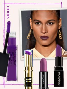 Spring Lipstick Trends - VIOLET Pink and red are the norm; orange is bold; purple is downright adventurous. It works best with understated eye makeup, like at Cushnie et Ochs, and flatters just about every skin tone.