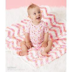 Free Easy Knit Baby Blanket Pattern | Yarnspirations | Bernat | Free Pattern