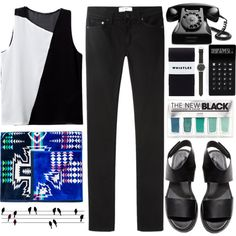 A fashion look from April 2014 featuring shirts & blouses, slim fit jeans and black tights. Browse and shop related looks.