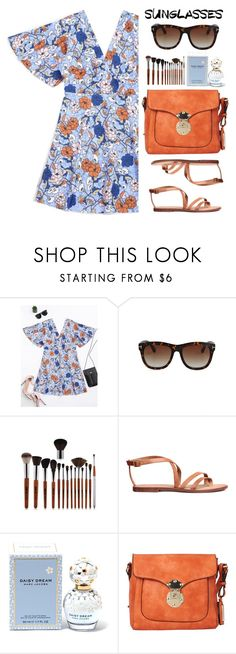 """""""Vintage Love: Retro Sunglasses"""" by justkejti ❤ liked on Polyvore featuring Marc Jacobs, Hush Puppies, vintage, under100, RetroSunglasses and zaful"""