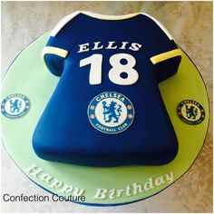 Cake Decorating Football Shirt : Chelsea Football Shirt Cake Cakes nina dropuljic ...