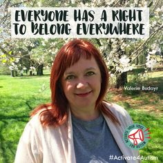 """Everyone has a right to belong everywhere. Inclusion and belonging are important to everyone, including people on the autism spectrum. I activate my voice for autism."" https://geekclubbooks.com/activate4autism/?utm_campaign=coschedule&utm_source=pinterest&utm_medium=Geek%20Club%20Books&utm_content=%23Activate4Autism%20to%20Speak%20Out%20for%20Acceptance%21%20%7C%20Geek%20Club%20Books"