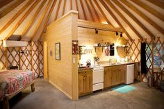 Photos and Videos of Yurts, Tipis and Tents from the Colorado Yurt Company. See videos of yurts and tipis being set up. Yurt Living, Tiny Living, Yurt Loft, Silo House, Round House, Small Spaces, House Plans, New Homes, Arquitetura
