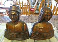 Nice pair of antique bookends by Galvano Bronze. c:1925. SOLD at More Than McCoy on TIAS!