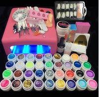 Wish | 36 W UV Lamp and 36 Colors UV Gel Nail Art Nail Tools Set Nail Polish Nail Gel Building Kit set a tool hedge