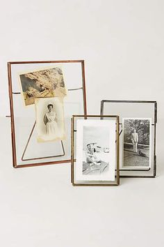 Pressed Glass Photo Frame by Anthropologie in Silver, Frames Homemade Picture Frames, Homemade Pictures, Unique Picture Frames, Picture Frame Crafts, Glass Photo Frames, Photo Frame Ornaments, Camera Aesthetic, Anthropologie, Gallery Frames