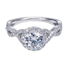 Contemporary Halo Engagement Ring Setting  Product Code: ER7543W44JJ
