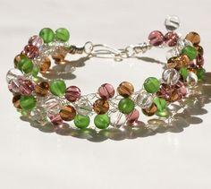 Green crochet bracelet