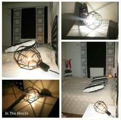 DIY lamp , bedroom Bedroom, Diy, Bricolage, Bedrooms, Do It Yourself, Homemade, Diys, Dorm Room, Dorm